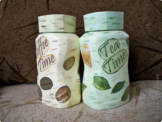 Баночки для кофе и чая. Выкинуть банки жалко, а можно использовать можно и нужно!