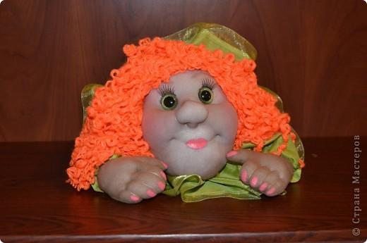 Машулька-рыжулька тоже была сделана в подарок рыжеволосой и зеленоглазой кудрявой девушке)) Портретного сходства нет, да это и не требовалось.    фото 1