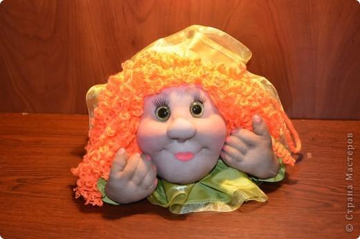 Машулька-рыжулька тоже была сделана в подарок рыжеволосой и зеленоглазой кудрявой девушке)) Портретного сходства нет, да это и не требовалось.    фото 2