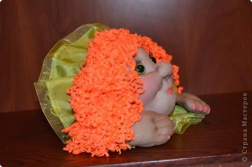 Машулька-рыжулька тоже была сделана в подарок рыжеволосой и зеленоглазой кудрявой девушке)) Портретного сходства нет, да это и не требовалось.    фото 4
