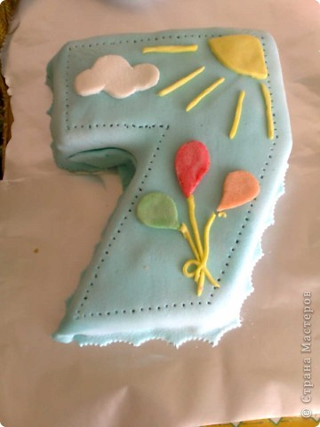 Я не кондитер,но иногда хочется домашнего тортика.Вот на День Рождения сынули испекла такой тортик,украшения делала из молочной мастики в отличии от сахарной она долго остается мягкой,очень вкусная и пластична. фото 3