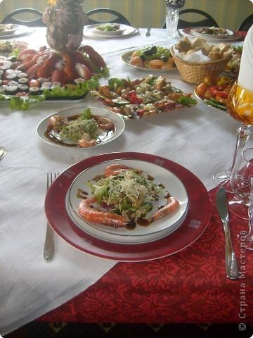 Вот так я решила оформит тарелку с роллами и суши ... фото 3