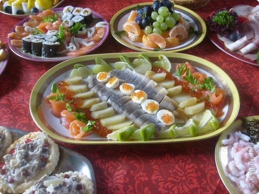 Вот так я решила оформит тарелку с роллами и суши ... фото 2