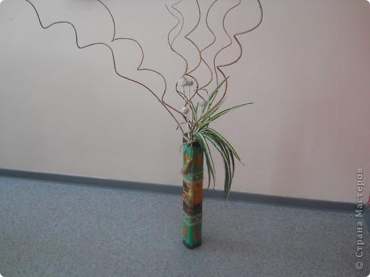 Взяла 4 трубочки из-под флористической сетки и склеила между собой. фото 9