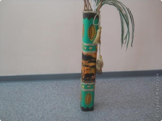Взяла 4 трубочки из-под флористической сетки и склеила между собой. фото 10