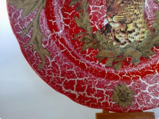 Такая тарелочка у меня получилась, салфетки с гепардом уже давно у меня лежали, когда-то заказывала их через интернет-магазин. фото 4