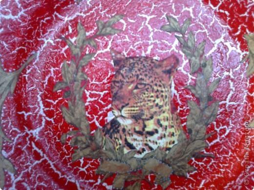 Такая тарелочка у меня получилась, салфетки с гепардом уже давно у меня лежали, когда-то заказывала их через интернет-магазин. фото 3