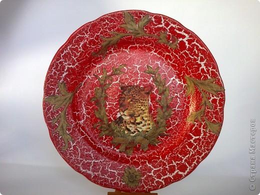 Такая тарелочка у меня получилась, салфетки с гепардом уже давно у меня лежали, когда-то заказывала их через интернет-магазин. фото 6