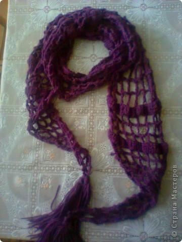 Мой первый шарф!