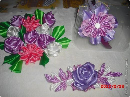 Ободок, роза на пояс, и цветы в корзинку. фото 1