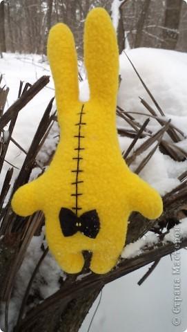 Такой вот зайчик у меня пошился... Почему-то потянуло на желтенький. Наверное, все уже устали от зимы. фото 2