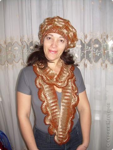 Комплект -берет и шарфик фото 1