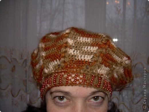 Комплект -берет и шарфик фото 2