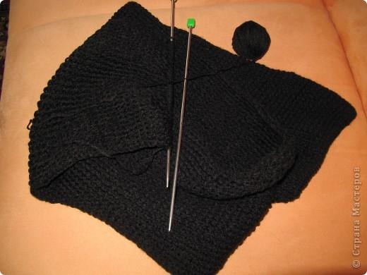 Вот такой шарфик связала для сына. правда на черном не видно вязки. но.. заказ есть заказ! фото 3