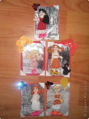 Такая серия карточек получилась у меня фото 1