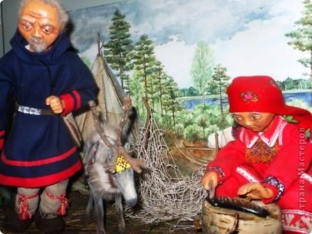 """""""Северная жизнь"""" название моей композиции или макета,  иногда воспитатели пользуются им что-бы рассказать о жизни народов севера и нашем регионе. фото 1"""