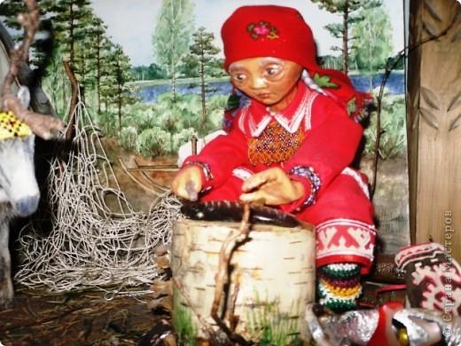 """""""Северная жизнь"""" название моей композиции или макета,  иногда воспитатели пользуются им что-бы рассказать о жизни народов севера и нашем регионе. фото 3"""