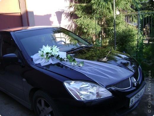 Решилась сделать украшение на капот свадебной машины фото 3