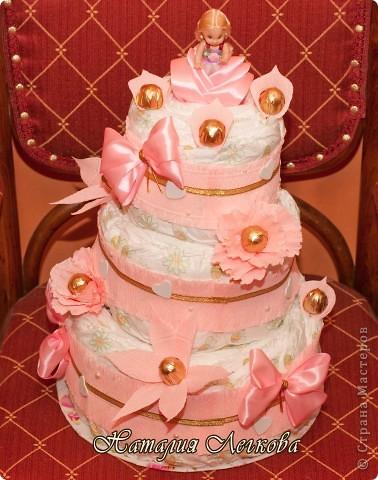 Решила сделать что-то новенькое для себя))) Получился такой тортик для маленькой принцессы фото 1