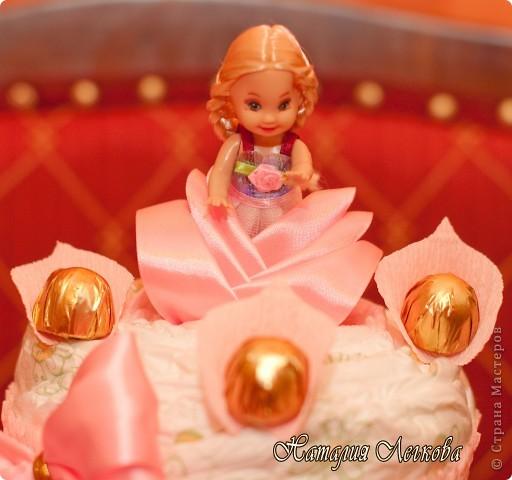 Решила сделать что-то новенькое для себя))) Получился такой тортик для маленькой принцессы фото 3