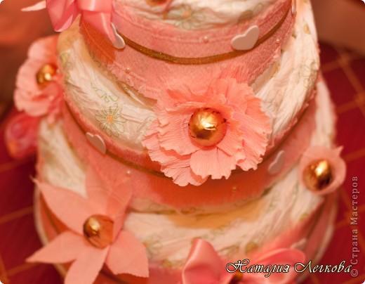 Решила сделать что-то новенькое для себя))) Получился такой тортик для маленькой принцессы фото 2