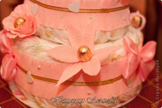Решила сделать что-то новенькое для себя))) Получился такой тортик для маленькой принцессы фото 4