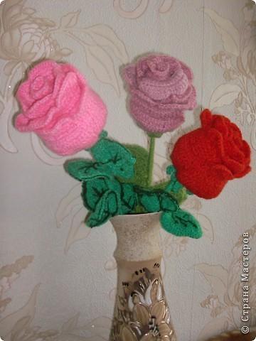 Схема вязания розы крючком фото 4