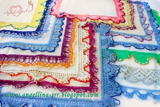 Овбязанные носовые платочки фото 1