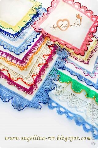 Овбязанные носовые платочки фото 3
