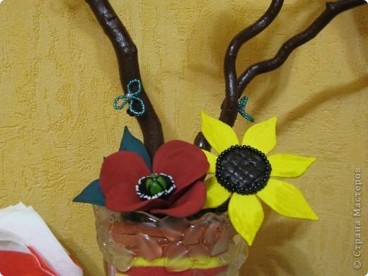 Кофейный топиарий (маково-подсолнуховый) подходит под общий дизайн кухни. фото 2