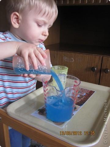 Ну очень интересно наливать цветную воду в стакан!!!! фото 2