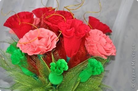 """Букет из конфет """"Вся в розах"""" фото 1"""