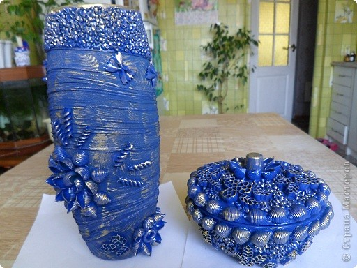 вот такая ваза и сахарница у меня получилась. фото 1