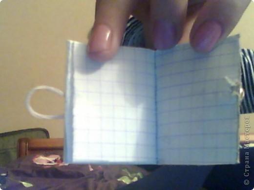 Мой первый кривенький и любименький мини-блокнотик! Вот такой вот мини-блокнотик я сделала... фото 4