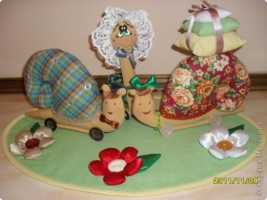 текстильно-кукольная композиция фото 1