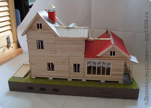 Макет дачного дома с кусочком прилегающей территории. Уже готов первый этаж, баня с верандой. фото 7