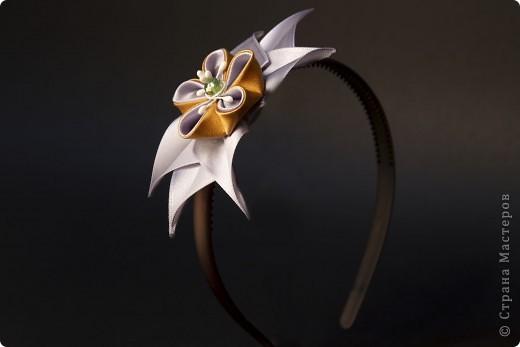 я сделала этот цветок на 3-й день после моего первого знакомства с канзаши )  фото 13