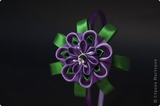 я сделала этот цветок на 3-й день после моего первого знакомства с канзаши )  фото 17