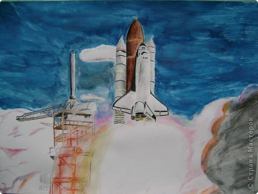 Запуск ракеты. Денисова А. фото 1