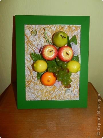 Картины из фруктов и овощей своими руками мастер класс