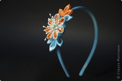 я сделала этот цветок на 3-й день после моего первого знакомства с канзаши )  фото 21