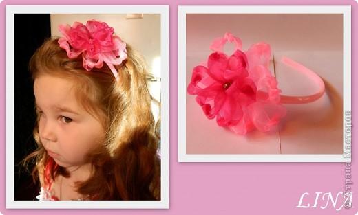 Цветочки-ободочки:) фото 7