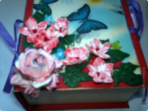 Наконец решилась и сделала коробочку с блоком для записей. Спасибо Тане Имполитовой и ее коробочке-книжке https://stranamasterov.ru/node/323176?c=favusers.  фото 2