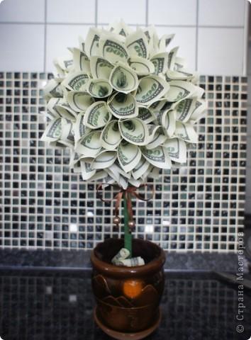 Поделки денежного дерева из купюр своими руками