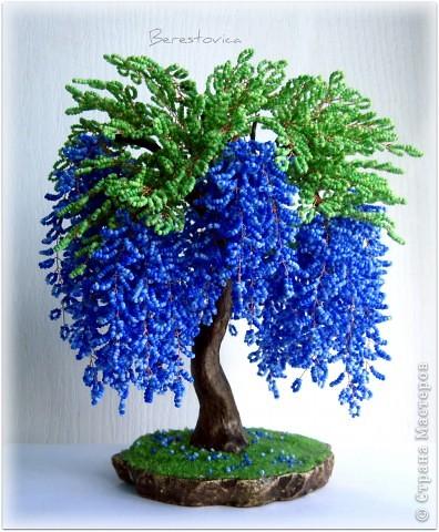 Показаны картинки по запросу Деревья из Бисера Глициния.
