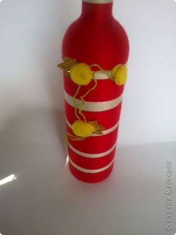 Такой вот наборчик. Бутылка и стаканчик обмотаны нитками. фото 4