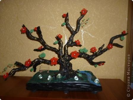 Я немного изменила подставку у этого дерева... Добавила ручеёк и камушки... фото 1