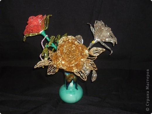 Поделка изделие Бисероплетение Розы из бисера Бисер фото 1.