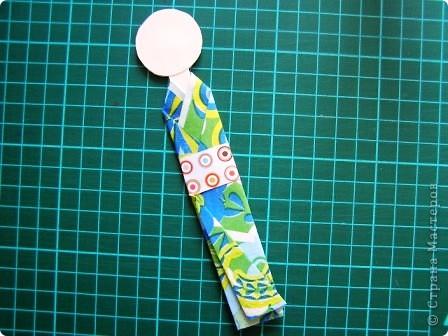 Куклы Мастер-класс Моделирование конструирование Как сделать бумажную японскую куколку Бумага фото 11