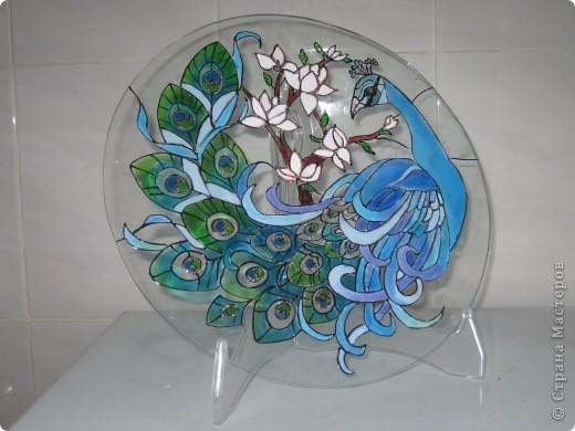 Витражные рисунки на стекле мастер класс
